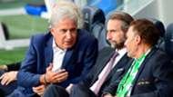 Bernard Caiazzo (ASSE), Jean-Claude Blanc (PSG) et Roland Romeyer (ASSE), PSG - ASSE, 9 septembre 2016