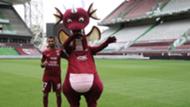 FC Metz : Farid Boulaya et la mascotte Grayou, 2018-2019