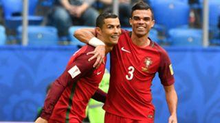 Cristiano Ronaldo Pepe Portugal Confederations Cup