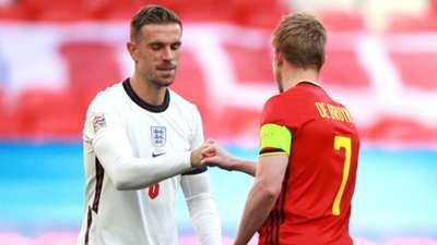 Henderson De Bruyne England Belgium 2020