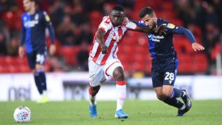 Stoke City's Oghenekaro Etebo and Nottingham Forest's Tiago Silva