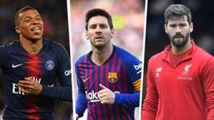 Mbappé, Messi e Alisson