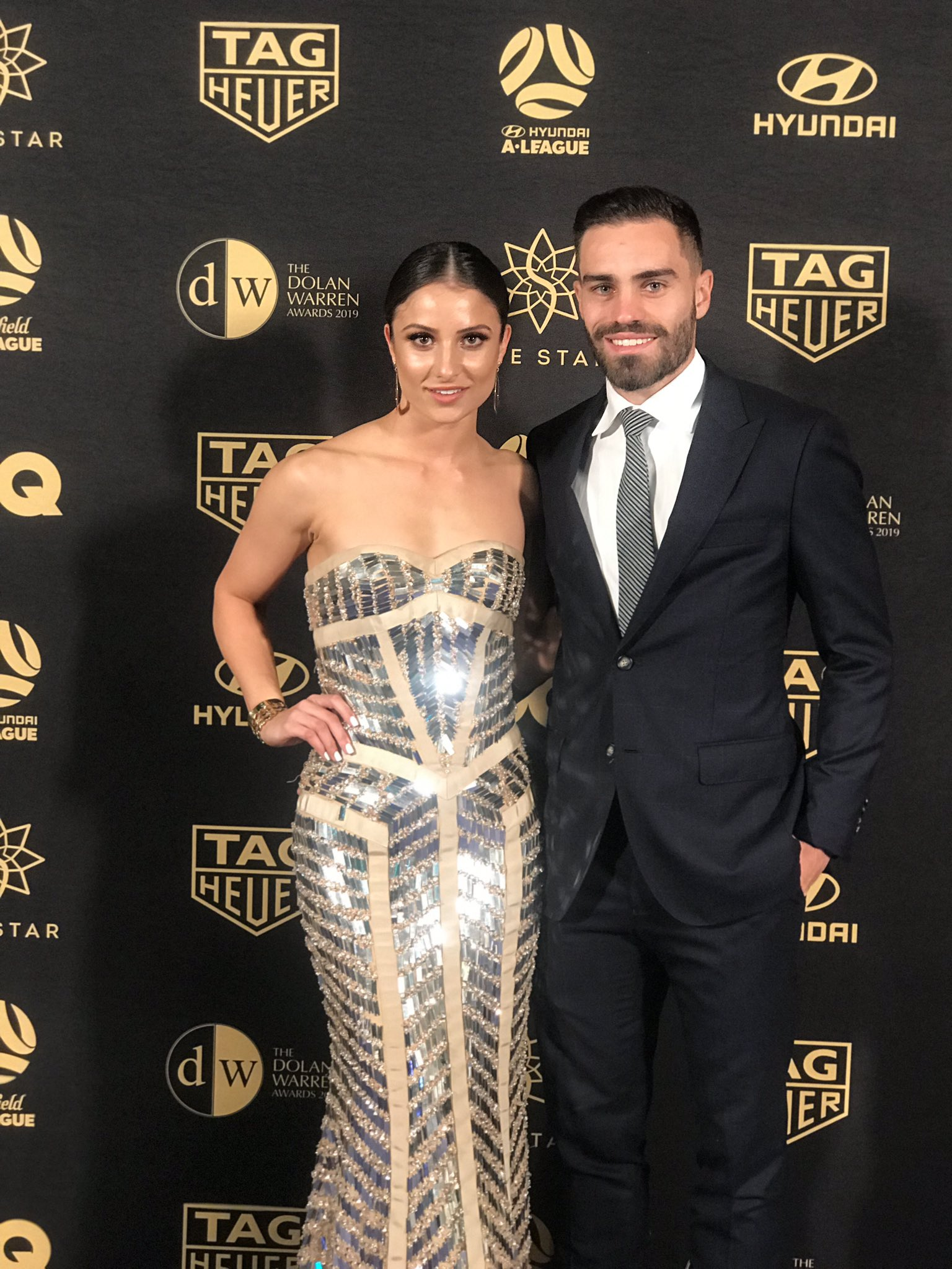 Anthony Caceres and Helen Petinos