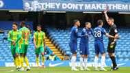 Thiago Silva red card Chelsea West Brom 2020-21