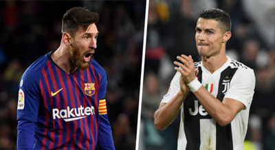 Lionel Messi Cristiano Ronaldo Juventus Barcelona 2018-19