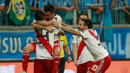 Comemoração Gonzalo Martínez Grêmio River Plate 30102018