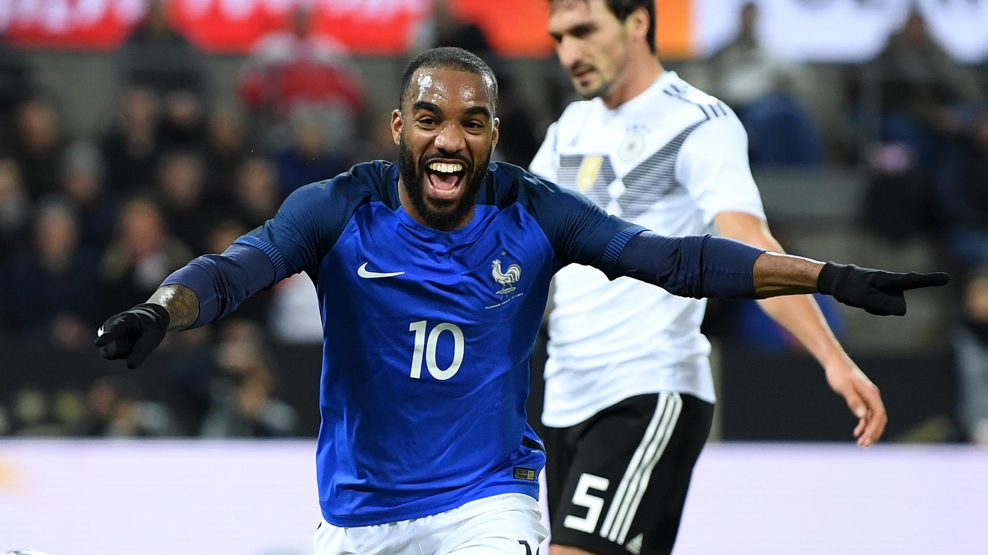 Alexandre Lacazette, France vs Germany