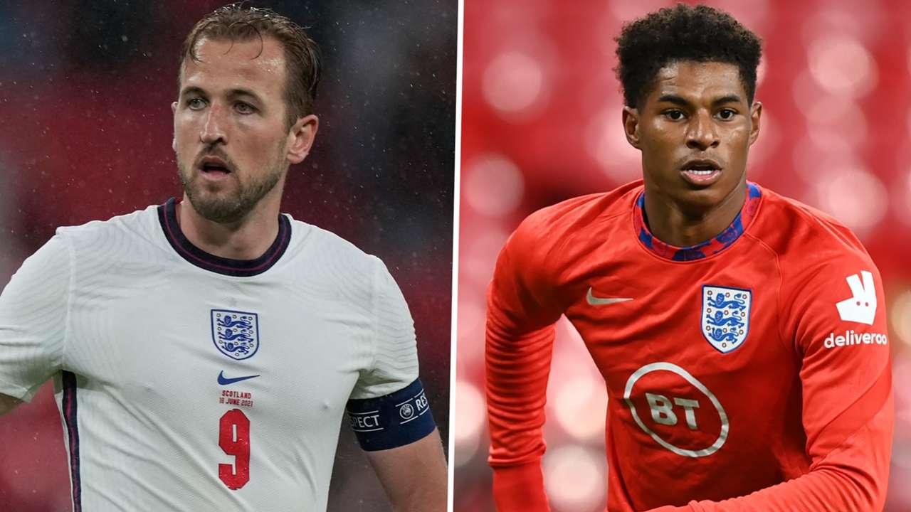Harry Kane Marcus Rashford England 2020-21