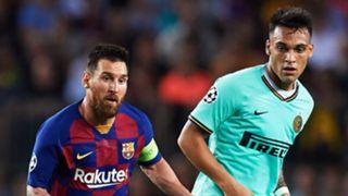 Lionel Messi Lautaro Martinez Barcelona Inter 2019