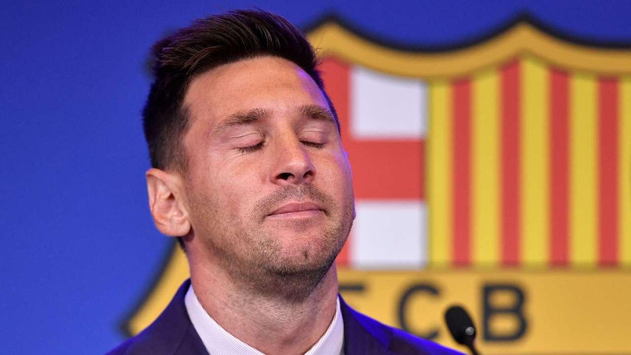 Lionel Messi Barcelona press conference 2021