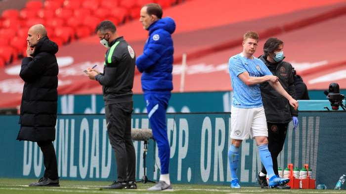 Kevin De Bruyne Manchester City Chelsea FA Cup 2021