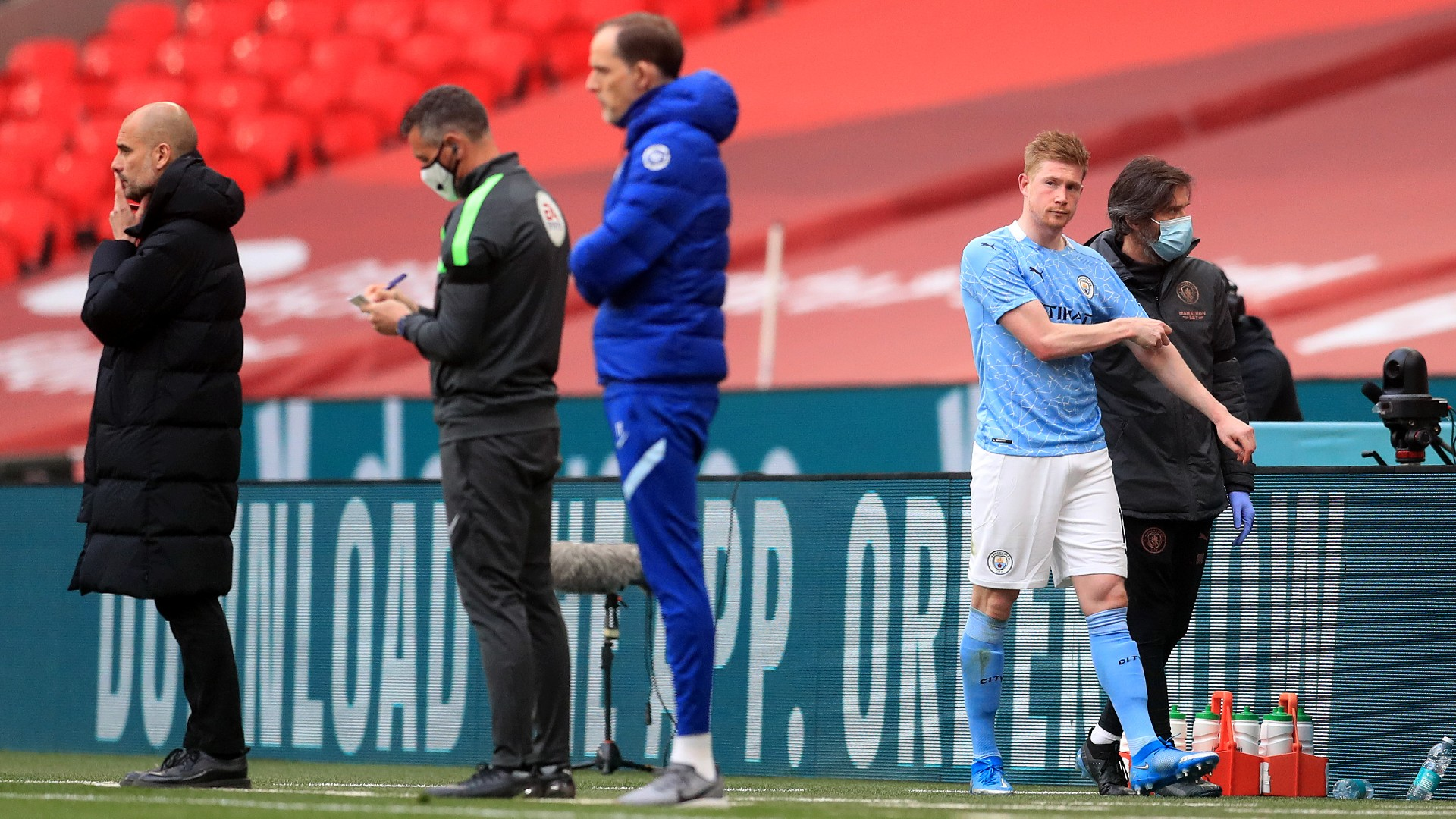 Manchester City rocked by Kevin De Bruyne injury in FA Cup ...