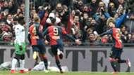 Genoa celebrating Genoa Sassuolo Serie A