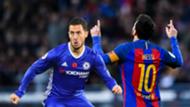 Eden Hazard and Lionel Messi