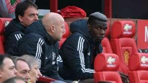 Paul Pogba Manchester United bench sub