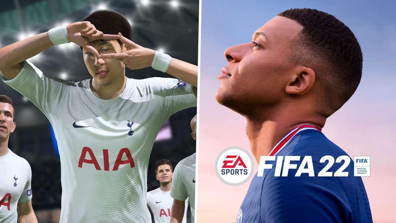FIFA 22 Son/Mbappe composite