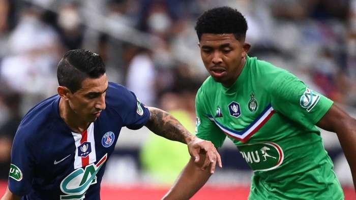 Wesley Fofana St Etienne Angel Di Maria PSG 2019-20