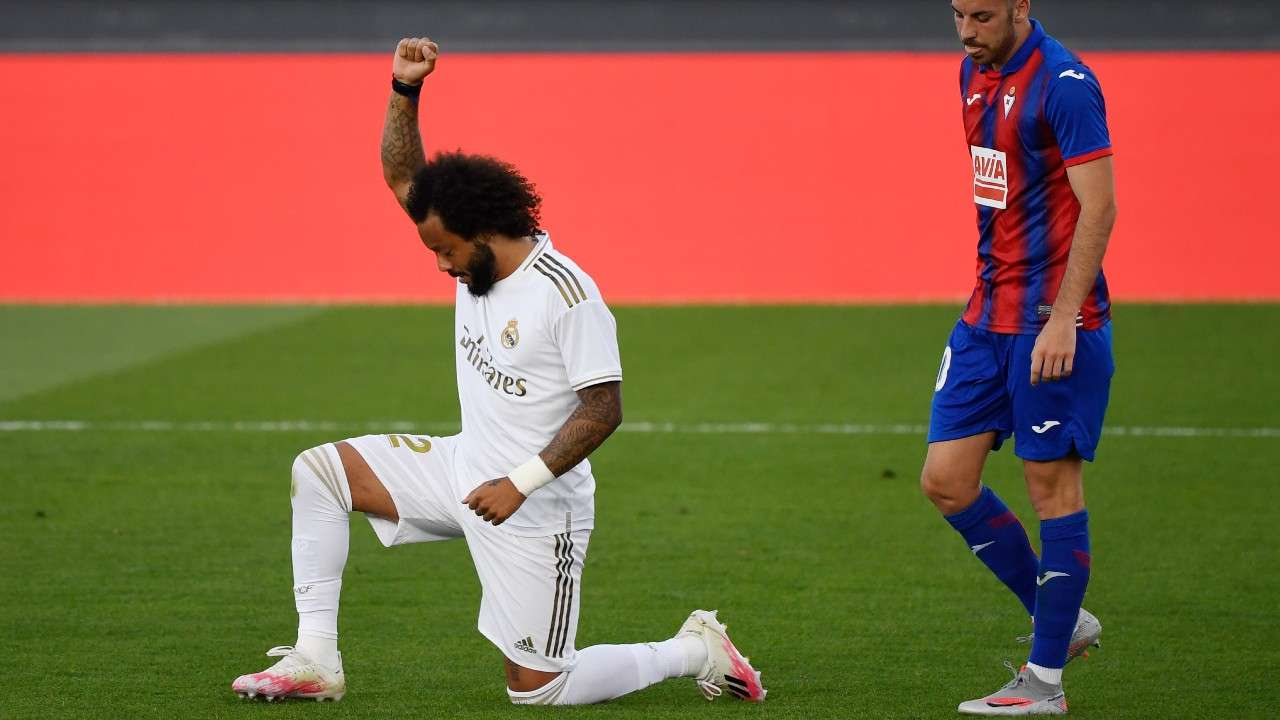 Marcelo kneel Real Madrid 2020