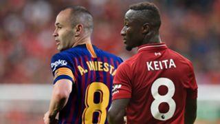 Andres Iniesta Naby Keita Barcelona Liverpool