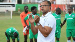 GOR MAHIA COACH Steven Polack and David Mapigano.