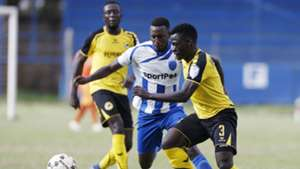 SOTER KAYUMBA of AFC Leopards v HILLARY WANDERA of Tusker.