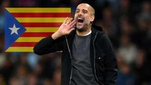 Pep Guardiola Catalonia Flag