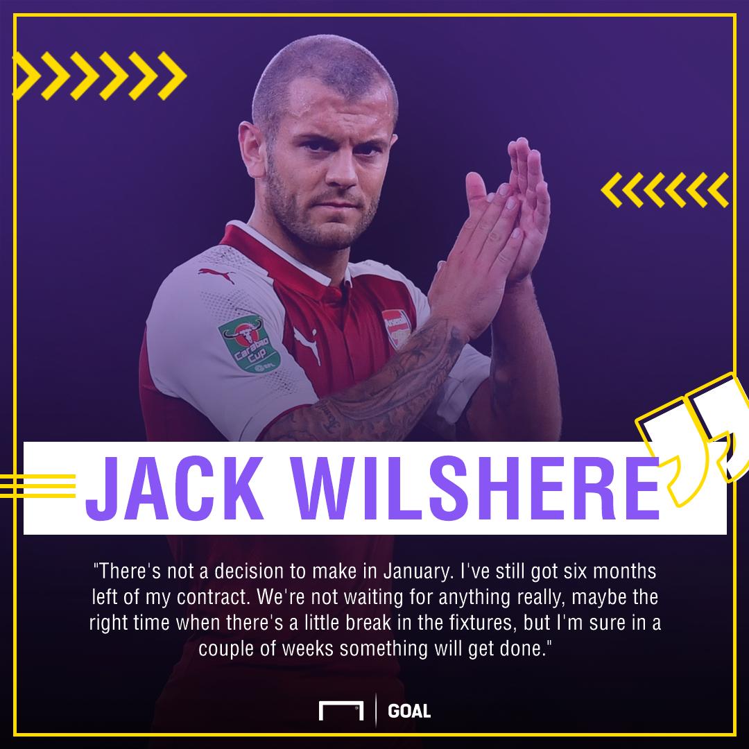 Jack Wilshere Arsenal contract wait