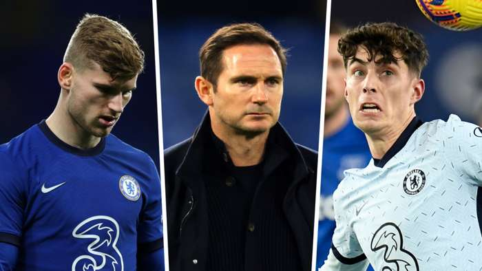 Timo Werner Kai Havertz Frank Lampard Chelsea GFX