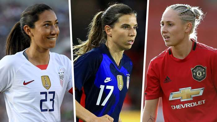 Christen Press Tobin Heath Leah Galton USWNT Manchester United split
