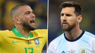Dani Alves Lionel Messi Brazil Argentina