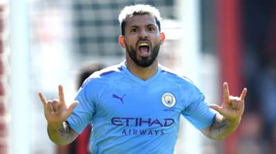 Sergio Aguero Bournemouth vs Manchester City 2019-20