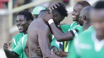Gor Mahia striker Gnamien Yikpe vs AFC Leopards.