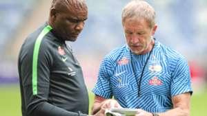 Stuart Baxter & Molefi Ntseki Bafana Bafana v Libya, September 2018