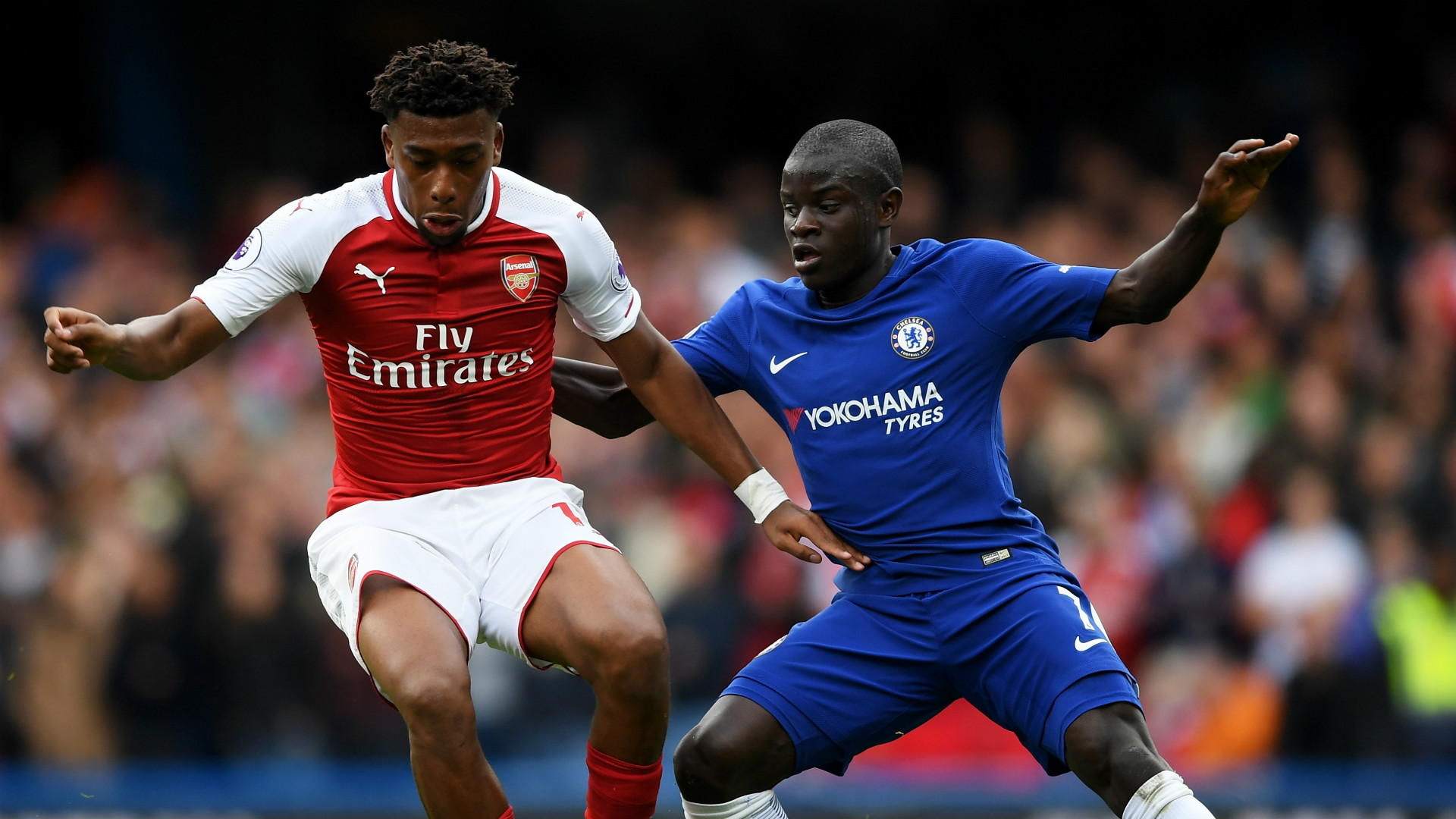 Alex Iwobi N'Golo Kante Arsenal Chelsea