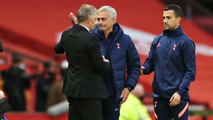 Jose Mourinho Ole Gunnar Solskjaer Man Utd vs Tottenham Premier League 2020-21