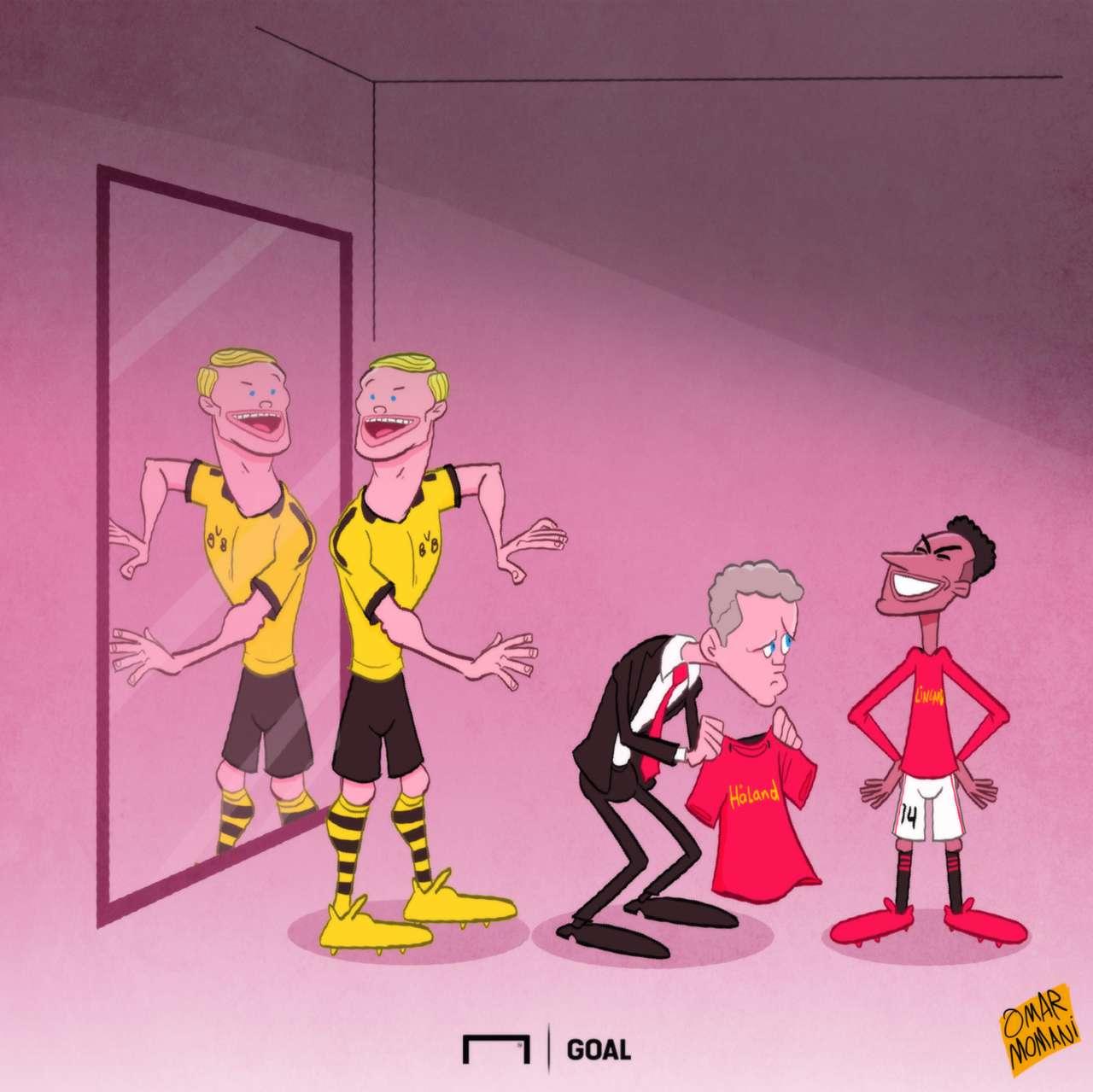 Haaland joins Dortmund cartoon of the day
