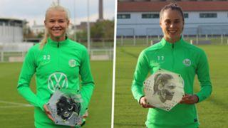 Ewa Pajor Pernille Harder Wolfsburg Goal 50 composite