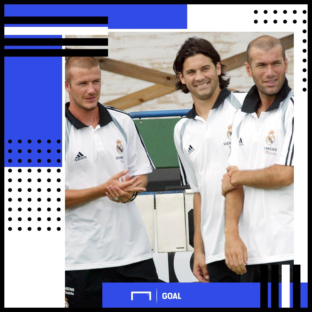 Santiago Solari Beckham Zidane Real Madrid PS