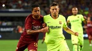 Justin Kluivert Clement Lenglet Barcelona Roma ICC 2018