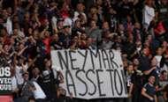 """""""Neymar casse-toi"""", banderole déployée au Parc des Princes lors de PSG-Nîmes Olympique (3-0), le 11 août 2019"""