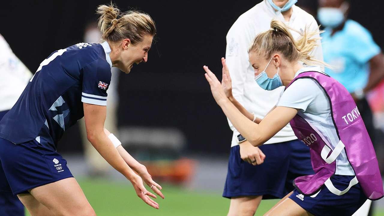 Ellen White Leah Williamson Team GB Olympics