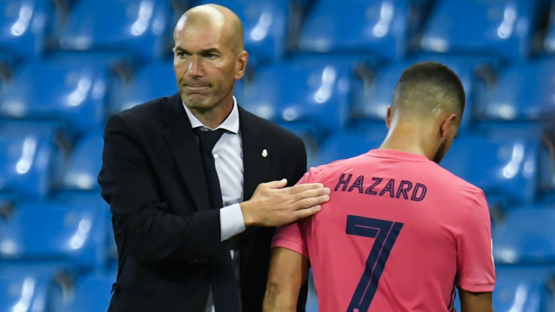 Zidane unsure how long 'upset' Hazard will be sidelined after latest Real Madrid setback