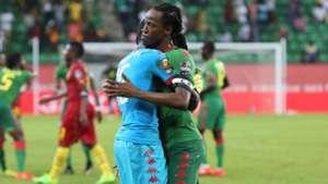 Bakary Kone and Herve Kouakou Koffi of Burkina Faso