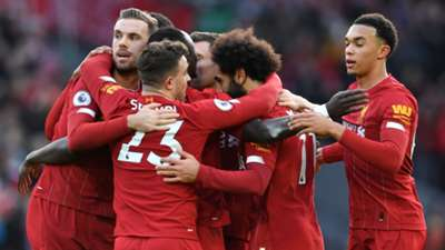 Mohamed Salah Liverpool Celebrating 2019
