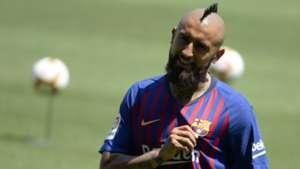 Arturo Vidal Unveiling Barcelona