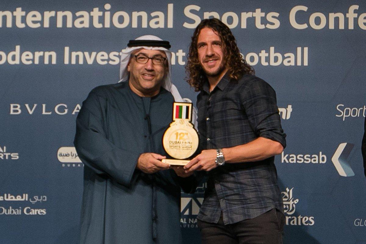 Puyol at the Dubai International Sports Conference