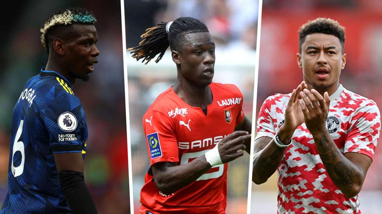 Paul Pogba Eduardo Camavinga Jesse Lingard Manchester United Rennes GFX