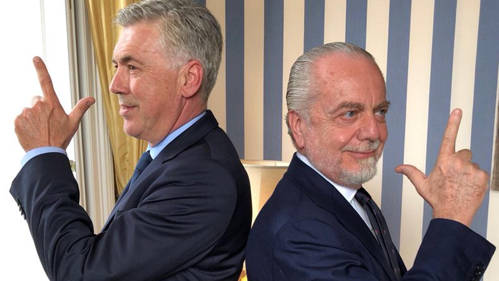 """Résultat de recherche d'images pour """"ancelotti de laurentiis"""""""