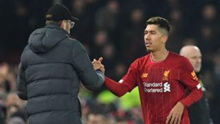 Jurgen Klopp Roberto Firmino Liverpool 2019-20
