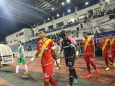 Selangor and Melaka United players walking out of the tunnel before their league match 27/1/2017